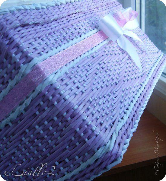 Поделка изделие Плетение Ящики Трубочки бумажные фото 2