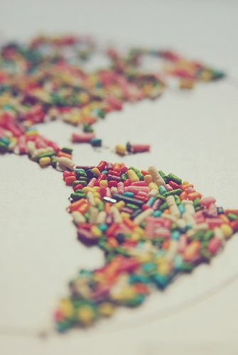 this would be awesome on a cake // sweet map of sprinkles