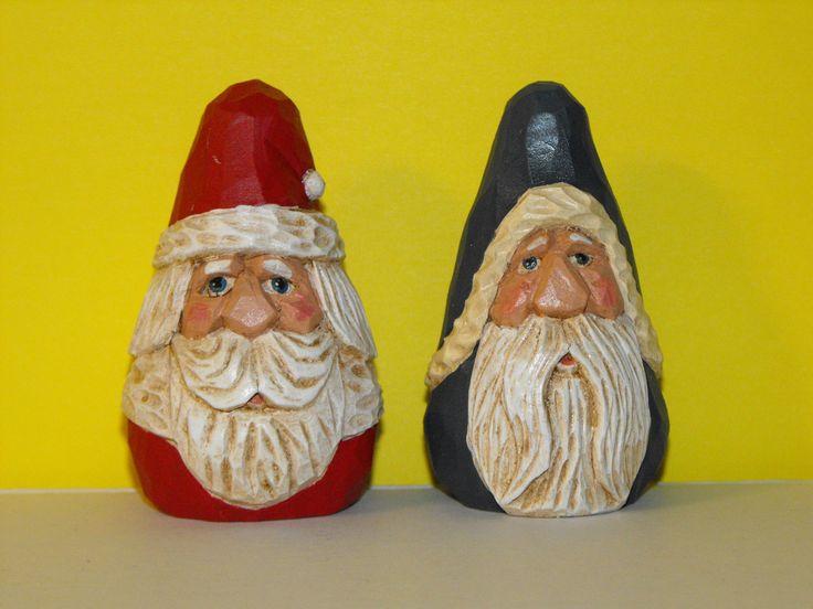 Carved santas from http santacarvings christmas