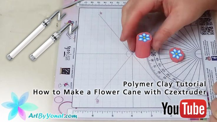 Czextruder in Action: Polymer Clay Tutorial - How to Make a Flower Cane with CZExtruder - video tutorial by Yonat Dascalu https://youtu.be/APw2aVtD3aI