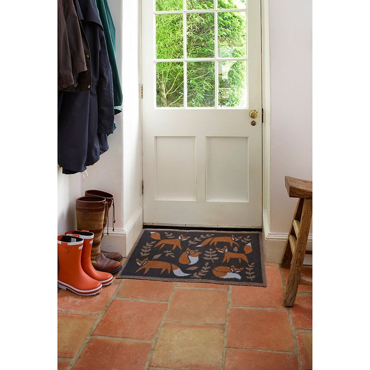 Buy Turtle Mat Folky Foxes Brown Door Mat from our Doormats range at John Lewis. Free Delivery on orders over £50.