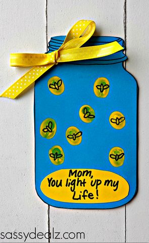 firefly mason jar mothers day card