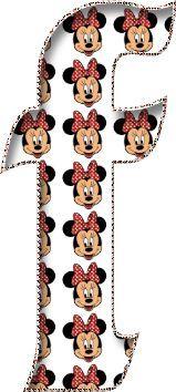 Alfabeto de la Cara de Minnie.