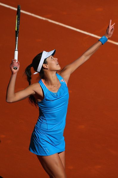 Ana Ivanovic - Mutua Madrid Open, 2014 - Ana beat American, Madison Keys, in straight sets in her opening round.