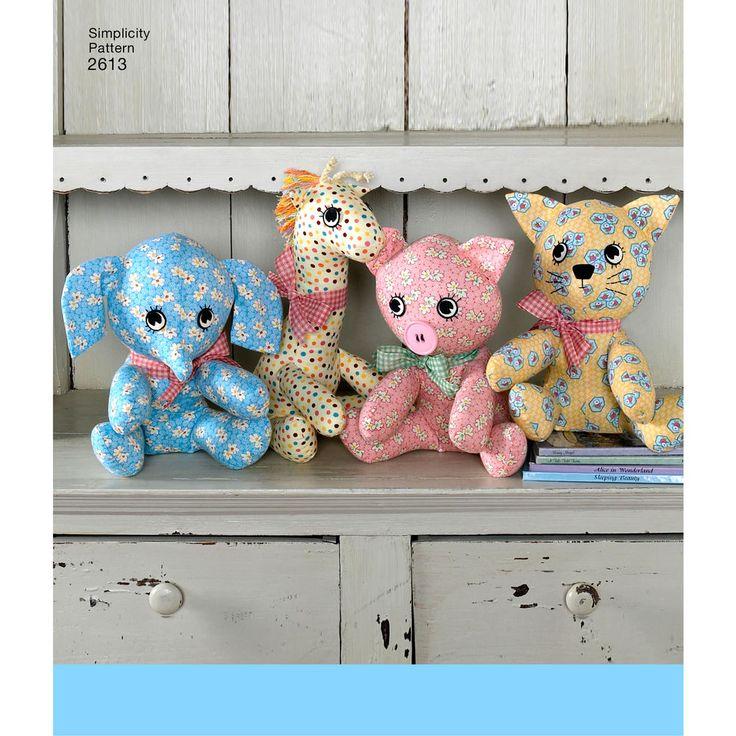 59 besten Stuffed Animal Patterns Bilder auf Pinterest | Spielzeug ...