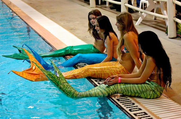 mermaid swimsuits...oh my word..I would have lost my marbles to have one of these as a kid!!!