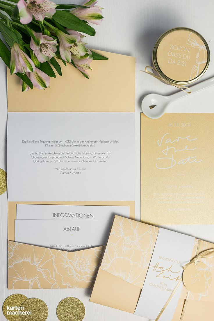 Menükarte hochzeit letter poppy in 2019 hochzeit puristisch klassisch wedding cards pocketfold invitations und wedding