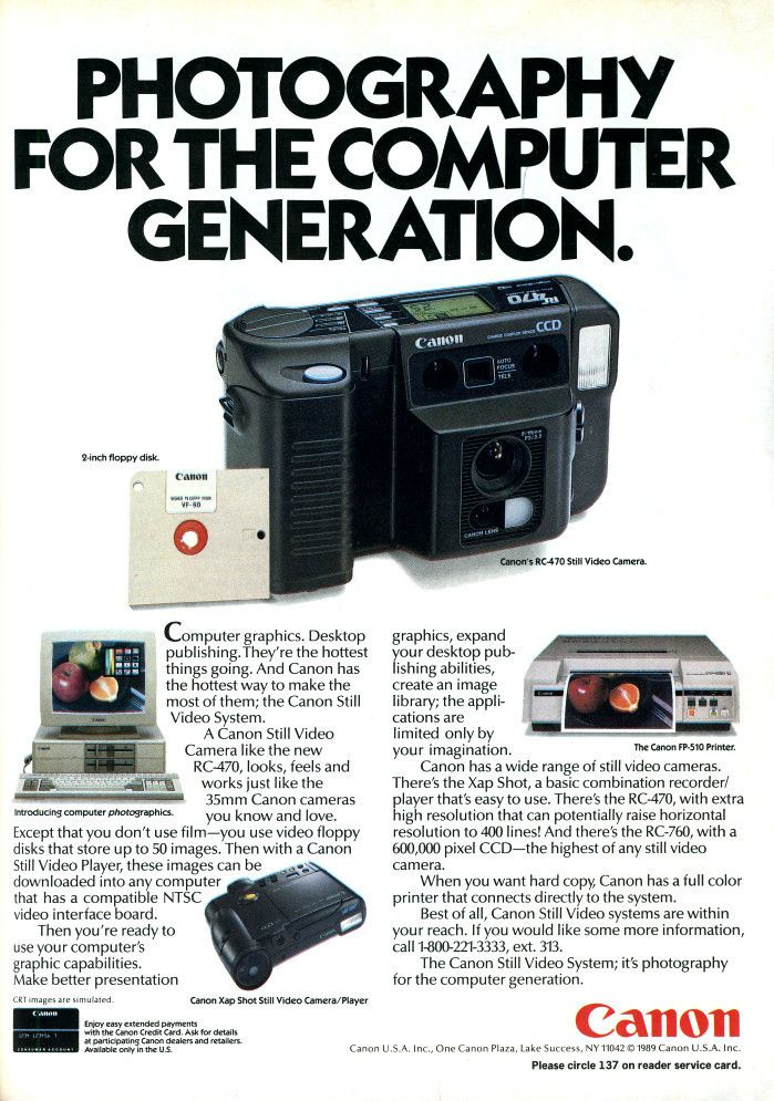 Blast From the Past: Canon Ad Shows Off Its Cutting Edge 1989 Still Video Cameras canonstillvideo1