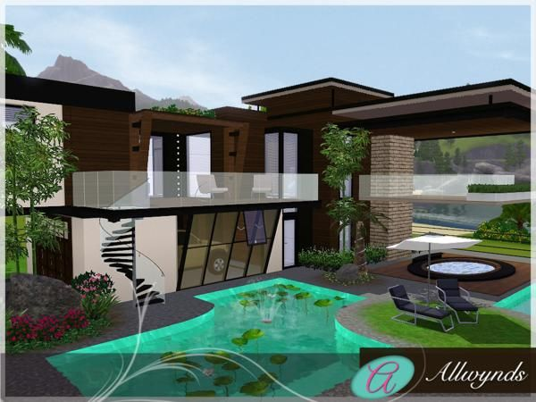 17 best images about the sims 3 house design on pinterest for Modern house sims 3