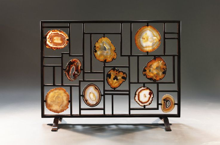 Agate And Geode Fireplace Screen Agate Geode And Rocking Home Decor