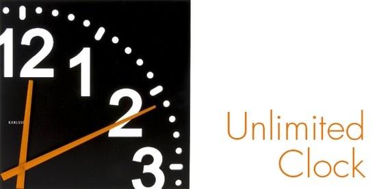 """¡Que no se te pase la hora! Mira aquí """"Unlimited color"""", un moderno reloj de pared con un diseño que te encantará. Disponible en color negro. $44,900"""