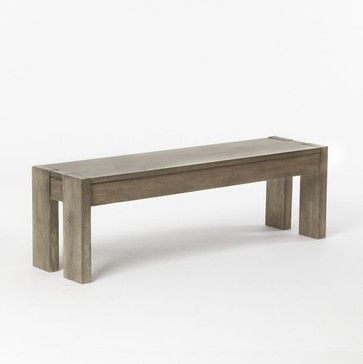 Boerum Dining Bench, Natural - traditional - dining chairs and benches - West Elm