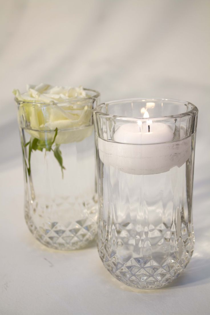 Glass container.vase for flowers or candles.