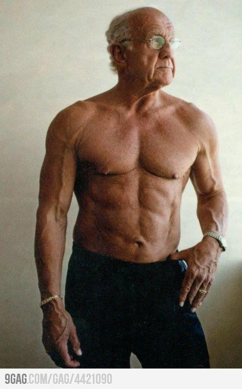 It's never to late to take care of yourself....This man is 73 years old