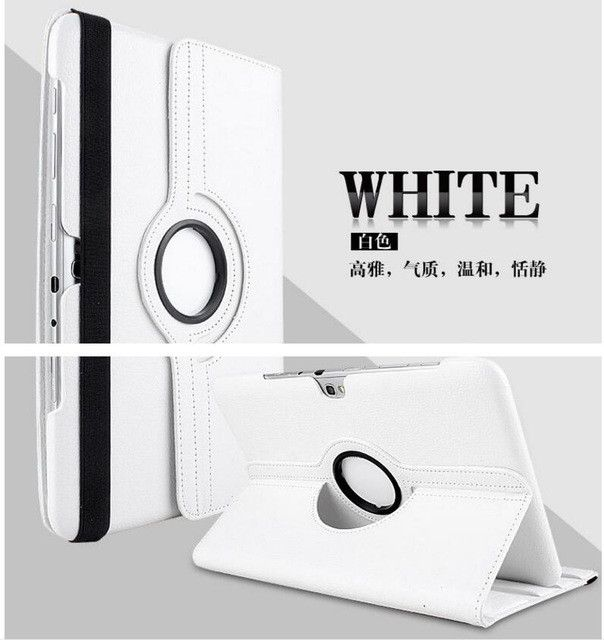 For Samsung Galaxy Tab 2 P5100 P5110 P7500 P7510 10.1 Tablet Case 360 Rotating Stand Folio Leather Protective Tablet Cover +film