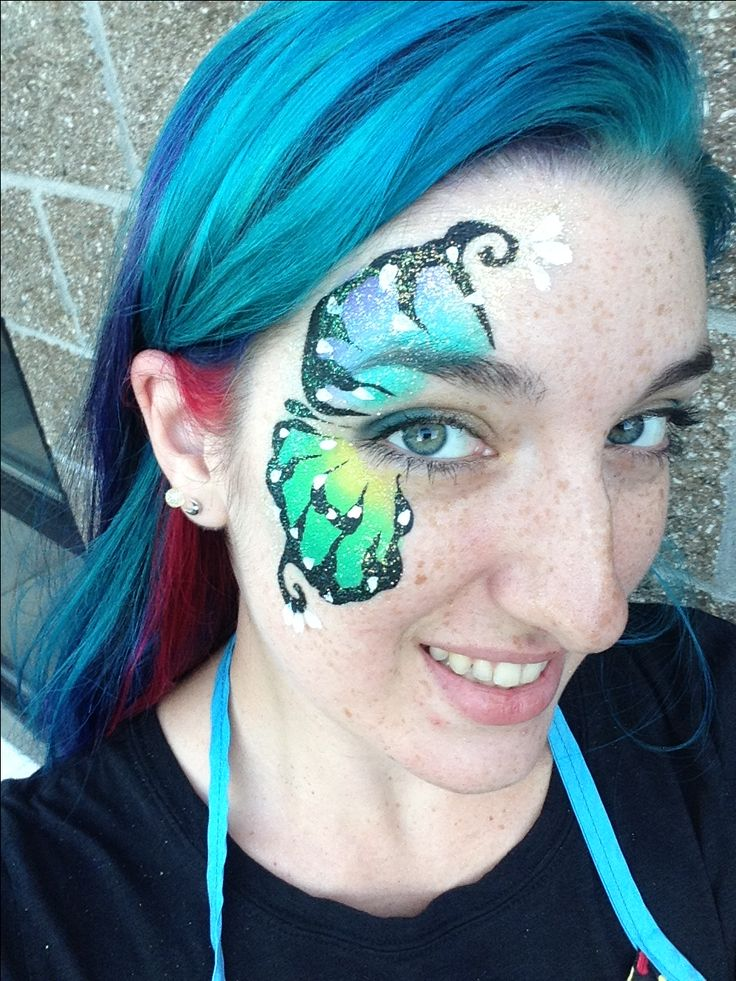 Butterfly by Kelsey, The Face Painting Lady