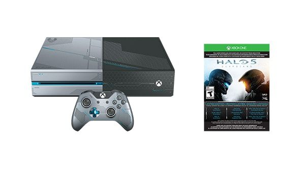 The Xbox One Limited Edition Halo 5: Guardians Bundle means you need to clear your schedule for the weekend. Okay, the week. Get a custom 1TB Xbox One console, custom Wireless Controller with 3.5mm headset jack, Spartan-themed SteelBook case with full game download, and so much more.
