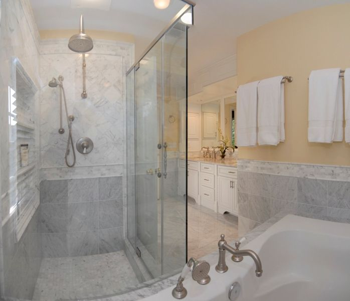 Bathroom shower tile carrera marble bianco carrara marble bathroom 1179 bianco carrara - Carrara marble bathroom designs ...