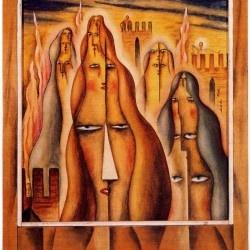 """""""Cuatro plurentes"""" by Alejandro Xul Solar"""