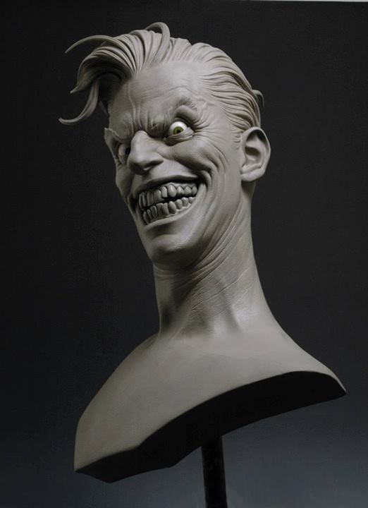 Andy Bergholtz Sculpture 1:1 Joker bust for Sideshow Collectibles, sculpted in WED clay. One of my personal favorite jobs I've worked on over the past 10 years with Sideshow.