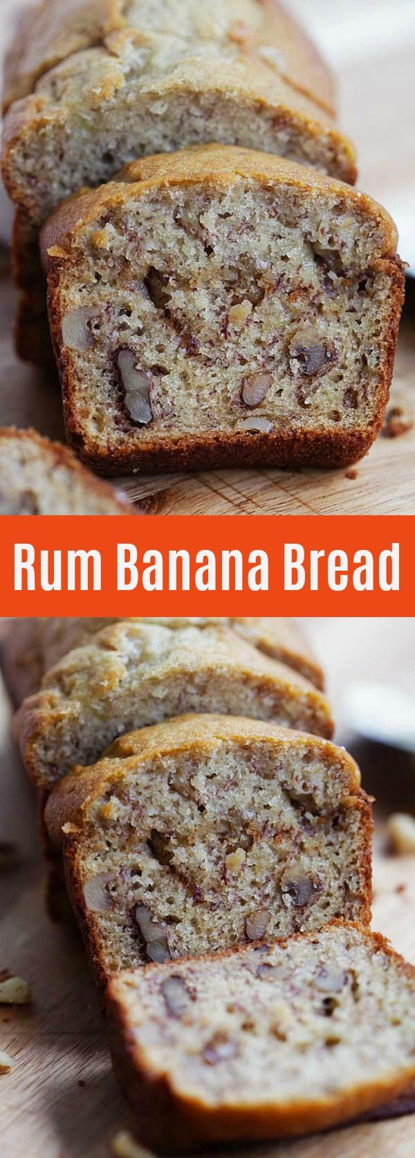 Rum Banana Bread - Turn traditional recipe into something even better with rum. This recipe yields the best and super moist banana bread ever | rasamalaysia.com