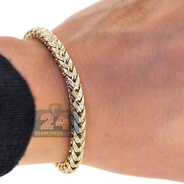 Franco Bracelet Solid 14k Yellow Gold