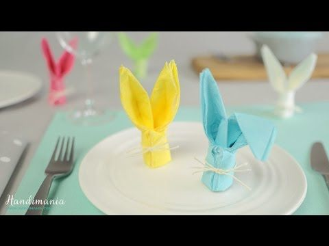 Check Out This Creative Dinner Decoration For Easter - How to Fold a Bunny Napkin – Cute DIY Projects
