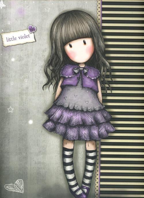 Gorjuss Little violet - Hledat Googlem