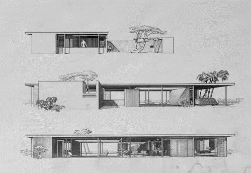 Paul Rudolph - NCMH Modernist Masters Gallery 1948 - The Roberta Healy Finney House, aka the Revere Quality House, 100 Ogden Lane, Siesta Key, Sarasota FL. Designed with Ralph Twitchell, who moved in with the client. Finney died in 1966. Twitchell lived there until his death in 1978. The house stayed with the Twitchell family until 2003.