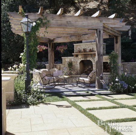 WOW Arbor pergola whatever outside fireplace.... love it