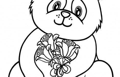Panda bear coloring pages