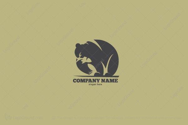 Logo for sale: Bear Fisherman Logo