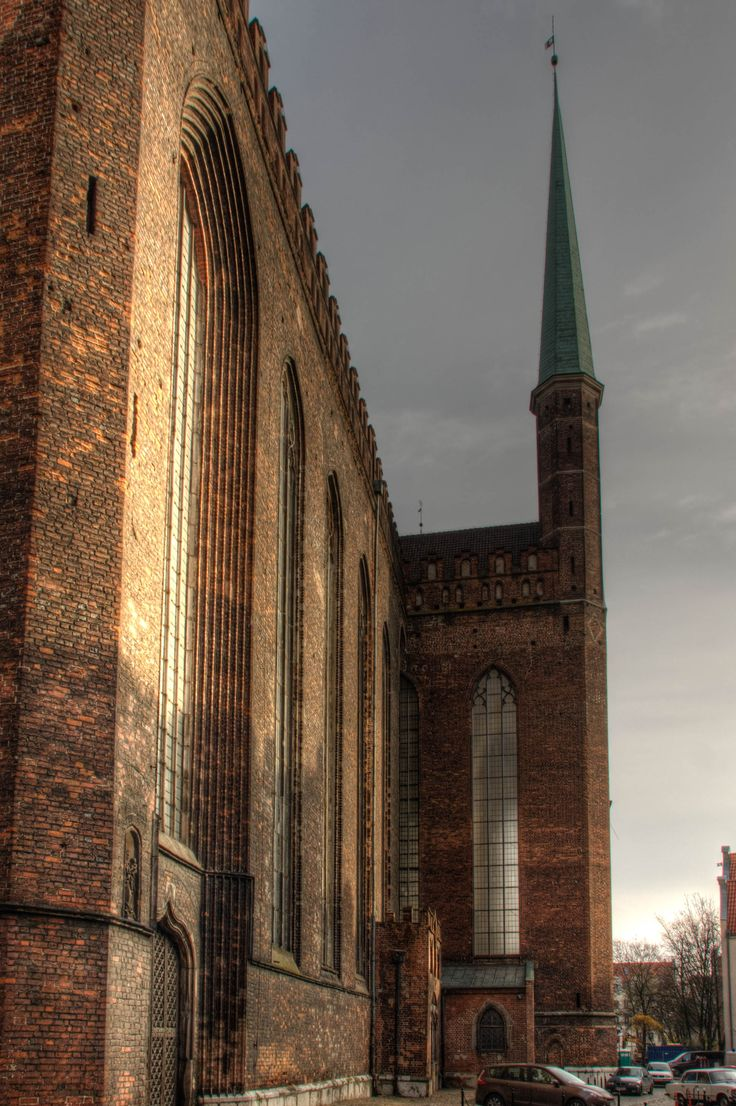 Bazylika Mariacka, or St. Mary's Church is a stunning 87 meters tall.  Shot in Gdańsk, Poland.