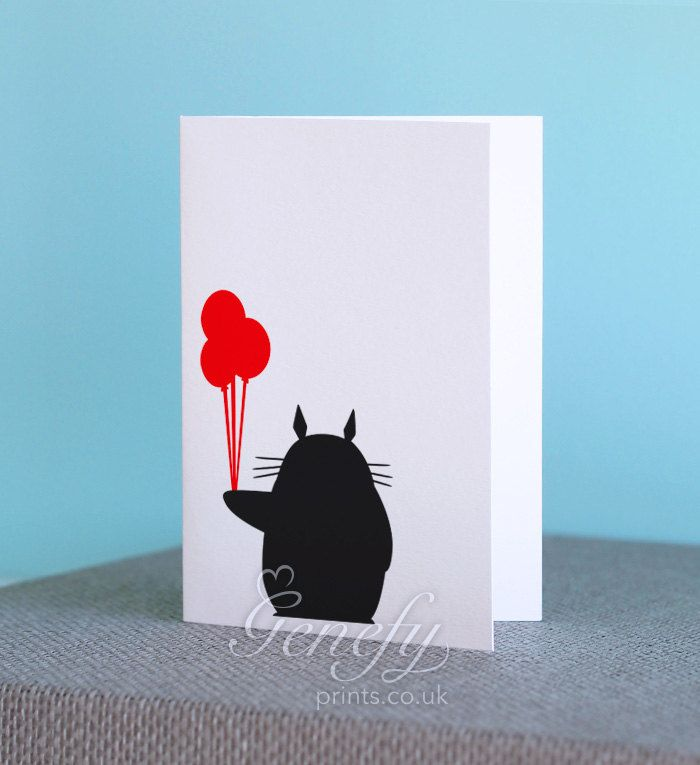 33 best Totoro Art images – Totoro Birthday Card
