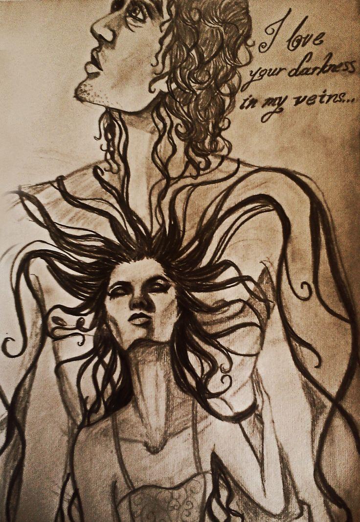 """""""Στις φλέβες μου κυλάει της μορφής σου το σκοτάδι... Σε θέλω! Σε ποθώ! Κάθε νύχτα με φεγγάρι..."""