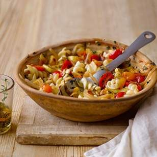 This vegan Fusilli with Yellow Squash & Grape Tomatoes  is a quick and easy pasta recipe that everyone will love.