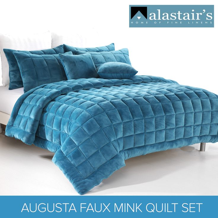 This Augusta Faux Mink Quilt/Bedding Set Teal By Alastairs Will Add Extra  Warmth To Your Bedroom And Give You A Comfortable And Relaxing Space.