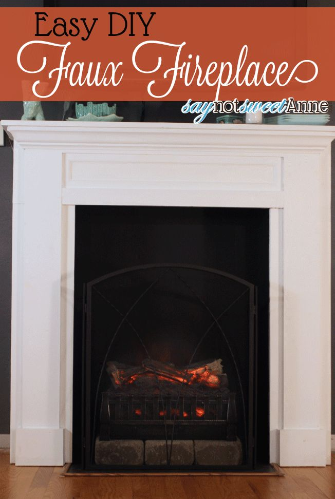 Best Faux Fireplace Diy And Ideas Images On Pinterest