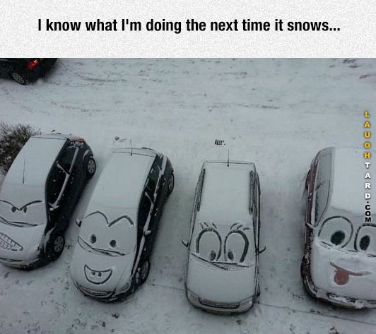 funny snow car art funny pictures pinterest funny street art