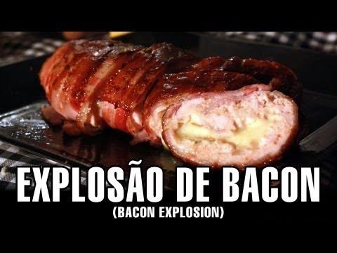 RECEITA DE EXPLOSÃO DE BACON - (BACON EXPLOSION) - CHURRASCO