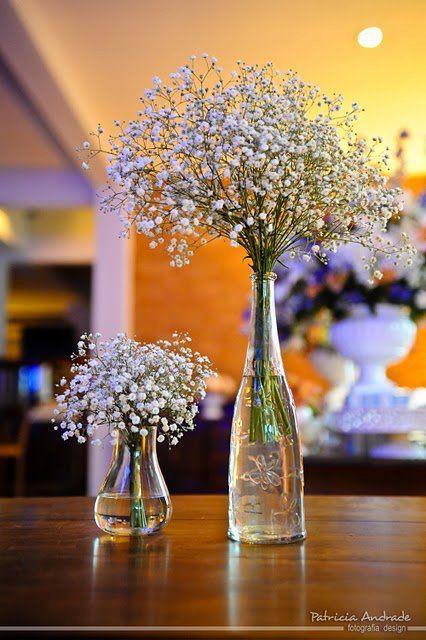 flores em frascos