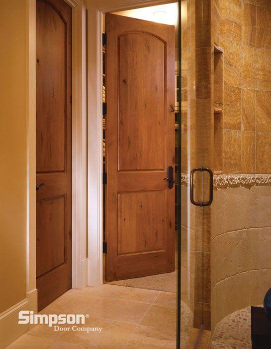 Like The Shower Walls U0026 Floor, Also The Warm Color Scheme. Would This Also  Work With Dark Brown Wood Doors U0026 Vanity?