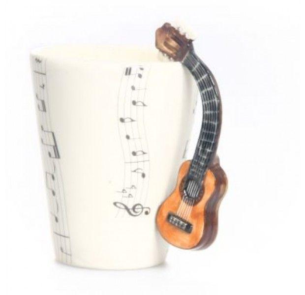 Gitaar Beker - Acoustic Guitar Mug #ceramics