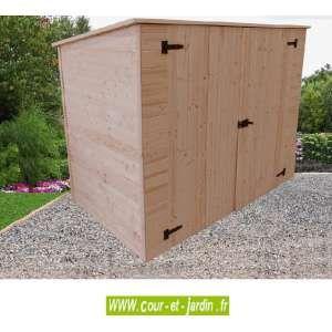 Abri de jardin à vélos, motos, mobilier de jardin ED2012.01 en bois avec…