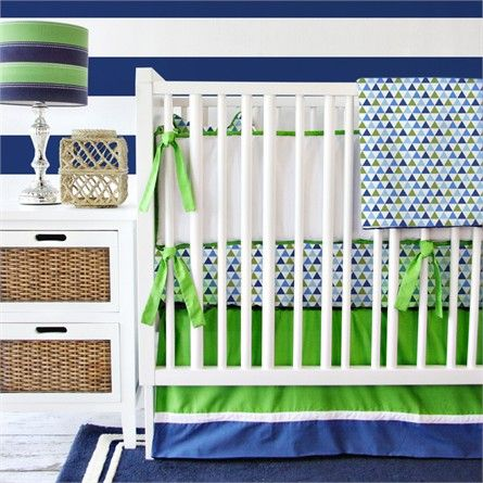 @rosenberryrooms is offering $20 OFF your purchase! Share the news and save!  Preppy Navy Boy Crib Bedding Set #rosenberryrooms