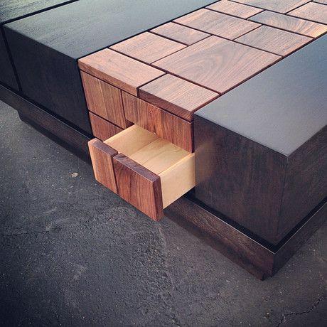 Abaci Walnut 42 // Square Coffee Table