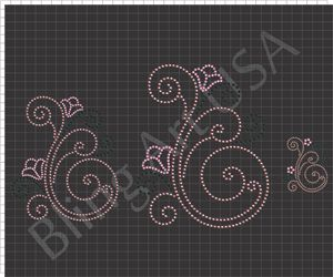 Swirls Rhinestone Downloads Files Templates Patterns Bling Swirl Symbols Stone Designs Stencil Easy Color