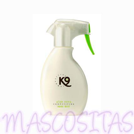 K9 Aloe Vera Nano Mist Spray Acondicionador es apto para cualquier tipo de manto y raza, para cachorros y adultos, para todos los animales domésticos, para el uso a diario, el profesional de peluquería y la competición.