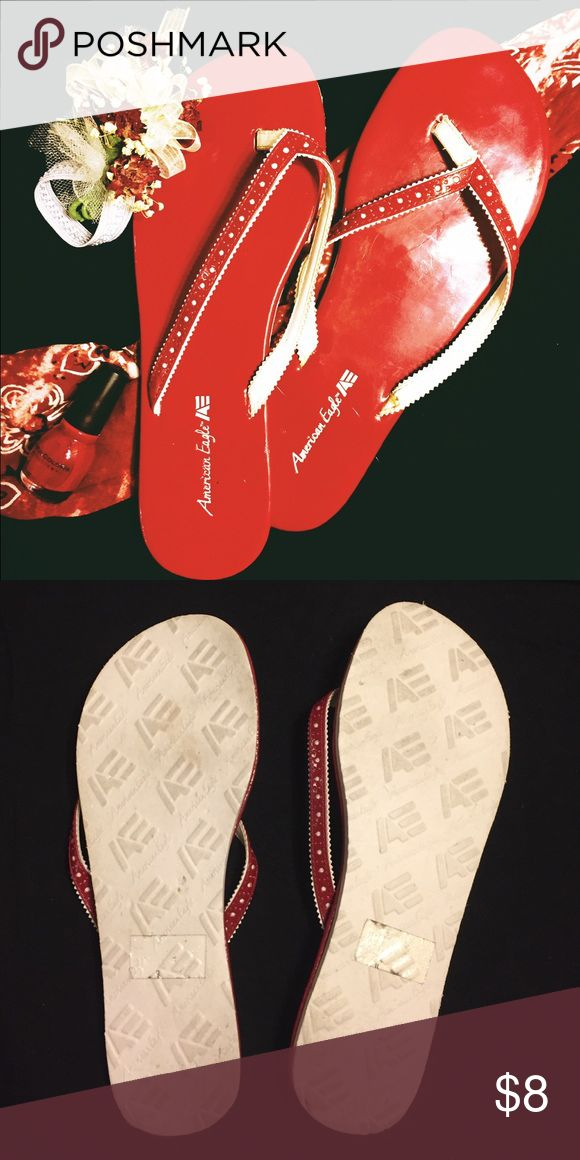 Red flip flops American Eagle red flip flops. Size 11 American Eagle by Payless Shoes Sandals