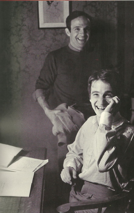 François Truffaut and Jean-Pierre Léaud on the set of Deux Anglaises et le…